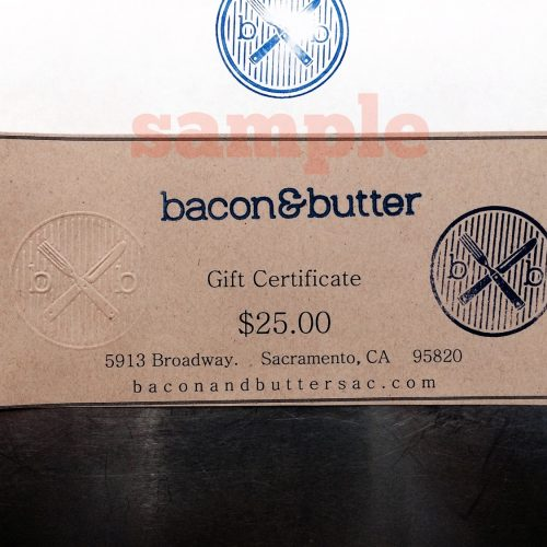 bacon & butter gift certificate