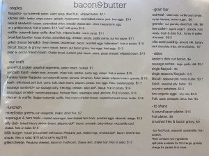 East Sacramento Breakfast, Lunch and Brunch Menu